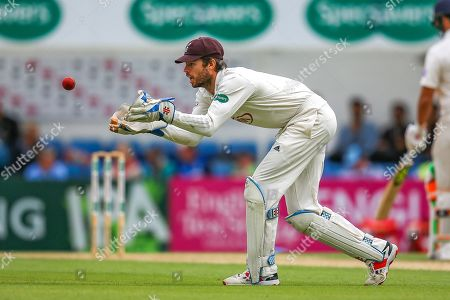 Ben Foakes of Surrey during the Specsavers County Champ Div 1 match between Surrey County Cricket Club and Hampshire County Cricket Club at the Kia Oval, Kennington