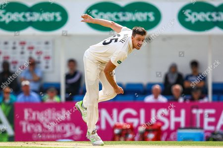 Morne Morkel of Surrey opens the bowling for Surrey during the Specsavers County Champ Div 1 match between Surrey County Cricket Club and Hampshire County Cricket Club at the Kia Oval, Kennington