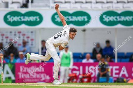 Morne Morkel of Surrey bowling for Surrey during the Specsavers County Champ Div 1 match between Surrey County Cricket Club and Hampshire County Cricket Club at the Kia Oval, Kennington