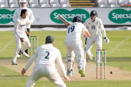 WICKET - Chris Wright traps Alex Lees LBW during the Specsavers County Champ Div 2 match between Durham County Cricket Club and Leicestershire County Cricket Club at the Emirates Durham ICG Ground, Chester-le-Street