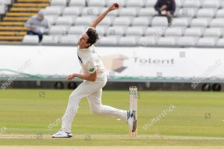 Chris Wright bowling during the Specsavers County Champ Div 2 match between Durham County Cricket Club and Leicestershire County Cricket Club at the Emirates Durham ICG Ground, Chester-le-Street