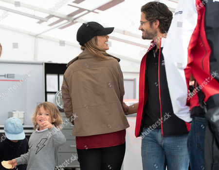 Princess Sofia (C) and Prince Carl Philip of Sweden (R) with their sons Prince Alexander (2-L) and Prince Gabriel (L) join a visit to the Gellerasen Motor stadium in Karlskoga, Sweden, 18 August 2019. Prince Carl Philip of Sweden has been competing as a racing driver in various touring car championships and endurance races in Scandinavia.