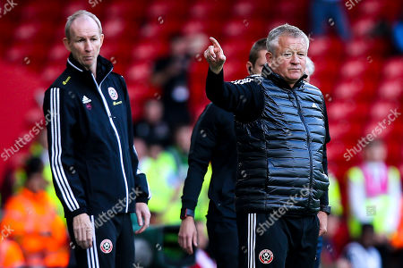 Stock Image of Sheffield United manager Chris Wilder and Sheffield United Assistant Manager Alan Knill