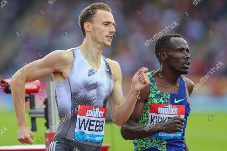 Jamie WEBB of Great Britain & NI and Alfred KIPKETER of Kenya in the Men's 800m during the Muller Grand Prix at Alexander Stadium, Birmingham