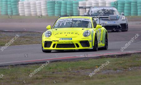 Editorial image of Swedish Prince Carl Philip at Scandinavian Porsche Carrera Cup, Gellerasen, Sweden - 18 Aug 2019