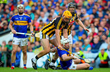 Kilkenny vs Tipperary. Tipperary's Padraic Maher with Billy Ryan of Kilkenny