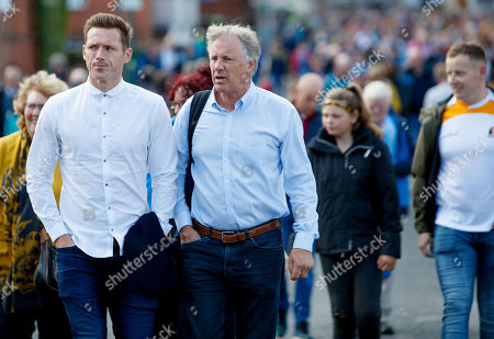Kilkenny vs Tipperary. GPA's Paul Flynn and GPA CEO and Donal O'Grady arrive