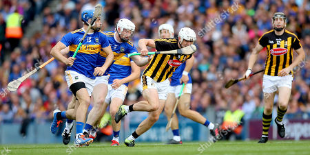 Kilkenny vs Tipperary. Tipperary's John McGrath and Michael Breen with Conor Browne of Kilkenny