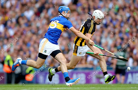 Kilkenny vs Tipperary. Tipperary's John McGrath and Conor Browne of Kilkenny