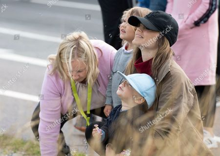 Editorial photo of Swedish Prince Carl Philip and family at Gellerasen race track, Karlskoga, Sweden - 18 Aug 2019