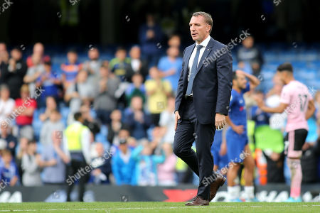 Leicester City Manager, Brendan Rogers during Chelsea vs Leicester City, Premier League Football at Stamford Bridge on 18th August 2019