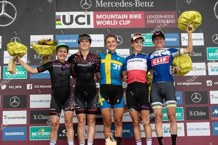 Sina Frei, GHOST, SUI Anne Terpstra, GHOST, NED Jenny Rissveds, Team 31, SWE Pauline Ferrand-Prevot, Canyon, FRA Catharine Pendrel, Clif Pro, FOX, Rotor, CAN  UCI Mountain Bike World Cup Lenzerheide, 11.08.2019