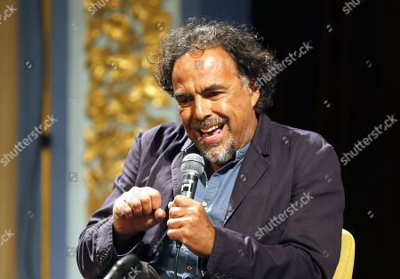 Alejandro Gonzalez Inarritu speaks during a masterclass lecture within the 25th Sarajevo Film Festival at the National Theater in Sarajevo, Bosnia and Herzegovina, 18 August 2019. Gonzalez Inarritu during the festival was honored with the 2019 Honorary Heart of Sarajevo Award on 16 August. The 25th Sarajevo Film Festival runs from 16 to 23 August 2019 and will present about 270 films.