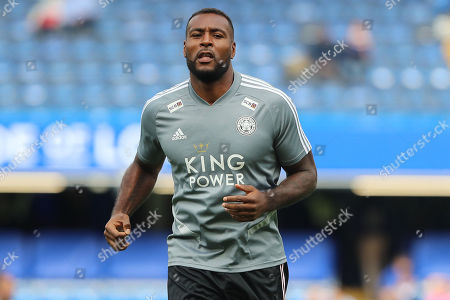 Leicester City defender Wes Morgan (5) during the Premier League match between Chelsea and Leicester City at Stamford Bridge, London