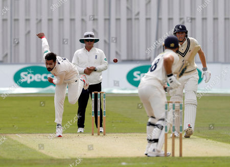 Mohammad Amir bowls for Essex during Kent CCC vs Essex CCC, Specsavers County Championship Division 1 Cricket at The Spitfire Ground on 19th August 2019