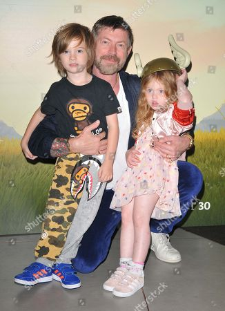 Lee Stafford and his kids