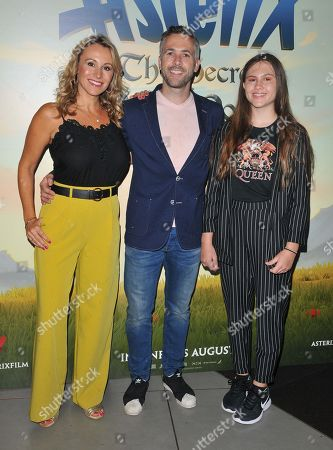 Sophie Blake, Scott Nicholls and daughter Maya
