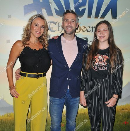 Stock Picture of Sophie Blake, Scott Nicholls and daughter Maya