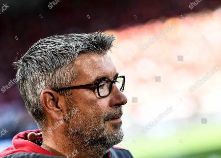 Union's head coach Urs Fischer prior the German Bundesliga soccer match between FC Union Berlin and RB Leipzig in Berlin, Germany, 18 August 2019.