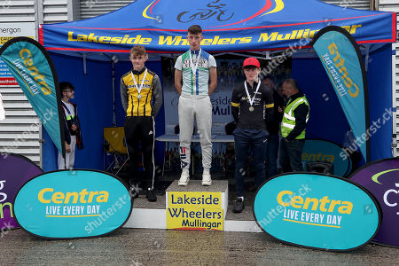 Stock Picture of Boys Under 15 Podium, Adam Gilsenan of Bohermeen CC, David Shine of Kanturk Cycling Club and Neill McLoughlin of McConvey Cycles at the Centra Youth Cycling National Championships in Mullingar. Over 200 boys and girls from U11 up to U16 participated throughout the weekend in Time Trial, Road Race and Criterium events. The Cycling Ireland National Championship was hosted by Lakeside Wheelers and supported by Centra Ireland. To find an event near you visit cyclingireland.ie
