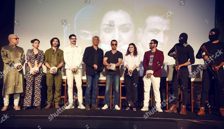 Bollywood Director Sudhir Mishra, actors Dalip Tahil, Ronit Roy and Tisca Chopra during an exclusive screening of Hotstar Specials show