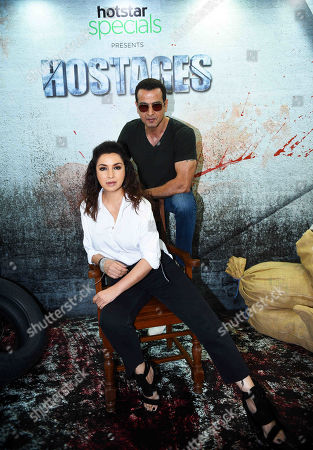 Bollywood actors Ronit Roy and Tisca Chopra during an exclusive screening of Hotstar Specials show