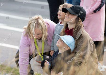 Princess Sofia of Sweden and children Prince Alexander and Prince Gabriel Duke of Dalarna