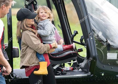 Princess Sofia of Sweden and child Prince Gabriel Duke of Dalarna