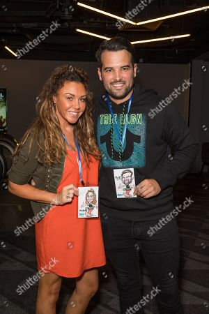 Stock Photo of Michelle Heaton and Ricky Rayment
