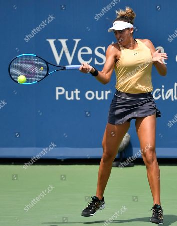 Madison Keys (USA) defeated Svetlana Kuznetsova (RUS) 7-5, 7-6, at the Western & Southern Open being played at Lindner Family Tennis Center in Mason, Ohio. ©Leslie Billman/Tennisclix/CSM