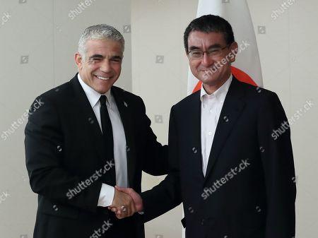 Yair Lapid and Taro Kono