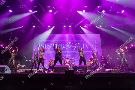 Stock Photo of Kathy Sledge (of Sister Sledge) plays Rewind South music festival