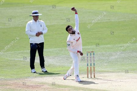Mohammad Amir in bowling action for Essex during Kent CCC vs Essex CCC, Specsavers County Championship Division 1 Cricket at the St Lawrence Ground on 19th August 2019