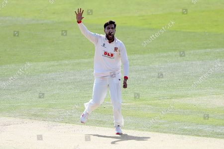 Mohammad Amir of Essex appeals for a wicket during Kent CCC vs Essex CCC, Specsavers County Championship Division 1 Cricket at the St Lawrence Ground on 19th August 2019