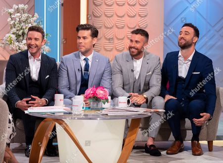 Stock Photo of The Overtones - Jay James, Mike Crawshaw, Darren Everest and Mark Franks