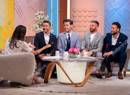 Stock Image of Christine Lampard and The Overtones - Jay James, Mike Crawshaw, Darren Everest and Mark Franks