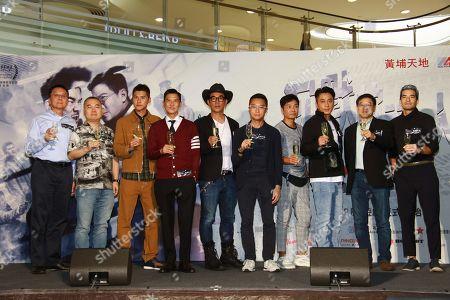 Stock Photo of Carlos Chan, Nick Cheung, Richie Jen, Roger Kwok and Ron Wu