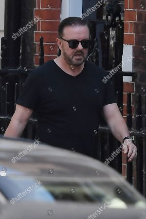 Stock Picture of Ricky Gervais in Hampstead