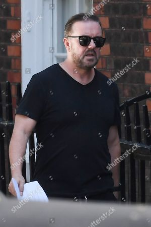 Editorial photo of Ricky Gervais out and about, London, UK - 19 Aug 2019