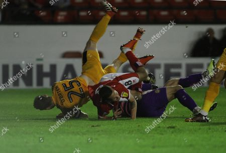Editorial photo of Walsall v Newport County, Sky Bet League Two, Football, One, Banks's Stadium, UK - 20 Aug 2019