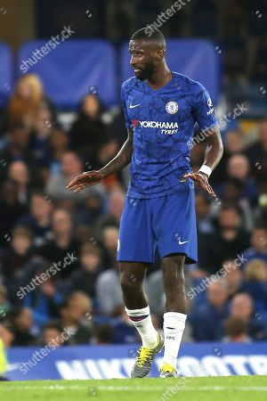 Stock Image of Antonio Rudiger of Chelsea during Chelsea Under-23 vs Liverpool Under-23, Premier League 2 Football at Stamford Bridge on 19th August 2019