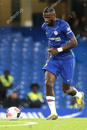 Stock Photo of Antonio Rudiger of Chelsea in action during Chelsea Under-23 vs Liverpool Under-23, Premier League 2 Football at Stamford Bridge on 19th August 2019