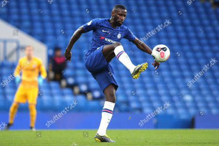 Antonio Rudiger of Chelsea in action during Chelsea Under-23 vs Liverpool Under-23, Premier League 2 Football at Stamford Bridge on 19th August 2019