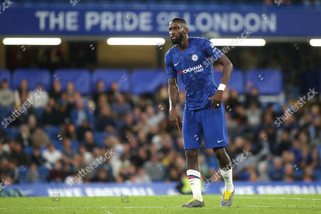 Antonio Rudiger of Chelsea looked rather weary towards the end of the match on his first outing for the U23's after suffering an injury in April 2019 during Chelsea Under-23 vs Liverpool Under-23, Premier League 2 Football at Stamford Bridge on 19th August 2019