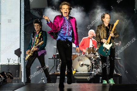 The Rolling Stones - Ronnie Wood, Mick Jagger, Charlie Watts and Keith Richards