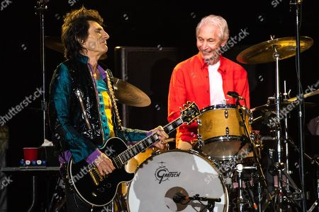 The Rolling Stones - Ronnie Wood and Charlie Watts