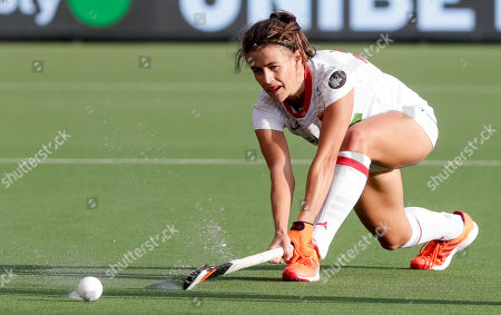 Lucia Jimenez of Spain in action during the EuroHockey 2019 Women match between Spain and Netherlands in Antwerp, Belgium, 19 August 2019.