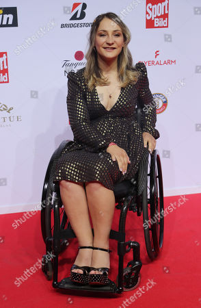 Former cyclist Kristina Vogel on the red carpet at the Sportbild Award in Hamburg, Germany, 19 August 2019. The newspaper's award is granted to athletes since 2003.