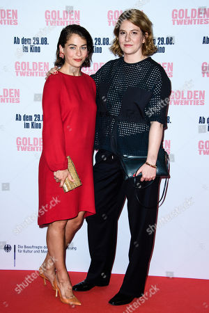 German director Sophie Kluge (R) and German-Dutch actress Henriette Confurius attend the premiere of the movie 'Golden Twenties' at the cinema Kino International in Berlin, Germany, 19 August 2019. The movie Golden Twenties screens in German cinemas from 29 August 2019.