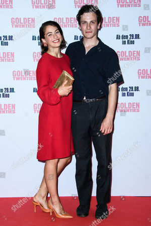 Henriette Confurius (L) and German actor Max Krause attend the premiere of the movie 'Golden Twenties' at the cinema Kino International in Berlin, Germany, 19 August 2019. The movie Golden Twenties screens in German cinemas from 29 August 2019.